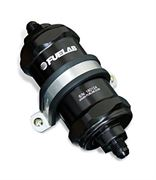 FUELAB: 828 SERIES IN-LINE FUEL FILTER (LONG): -8AN INLET/OUTLET