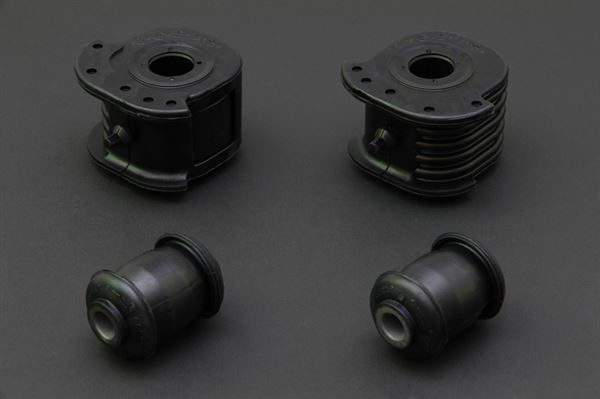 HARD RACE: GSR FRONT LOWER ARM BUSING (HARDENED RUBBER) 4PC / SET: EVO 1-3