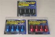 WEDSSPORT: RACING LUG NUT (SHORT TYPE) - 4 PIECE PACK (12x1.5mm)